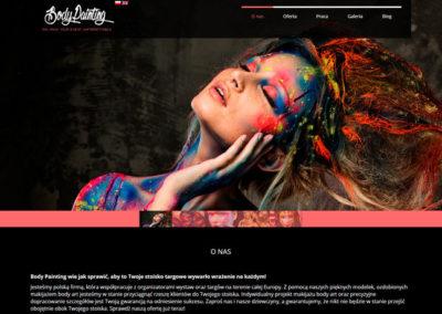 BODYPAINTING.ZONE – Strona internetowa dla BodyPainting