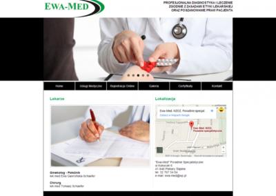 EWA MED – Strona internetowa dla przychodni lekarskiej