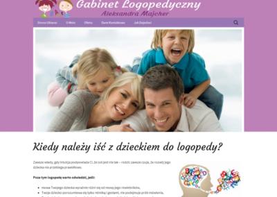 GABINET LOGOPEDYCZNY – Strona internetowa dla gabinetu lekarskiego