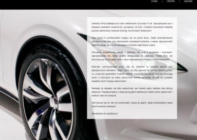 PROJEKT 78 – Strona dla firmy oklejającej samochody
