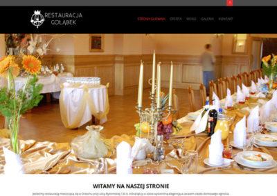 RESTAURACJA GOŁĄBEK – Strona internetowa dla restauracji
