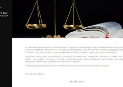 ADWOKAT-FRYDULSKA.PL – Strona internetowa dla adwokata