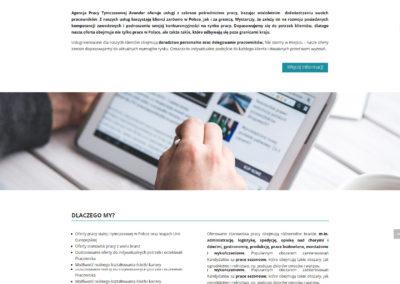 AVANDER.COM.PL – Strona internetowa dla agencji pracy