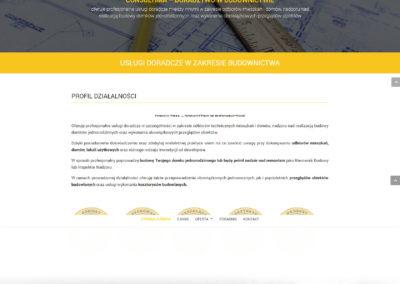 CONSULTIMA.PL – Strona internetowa dla biura projektowego