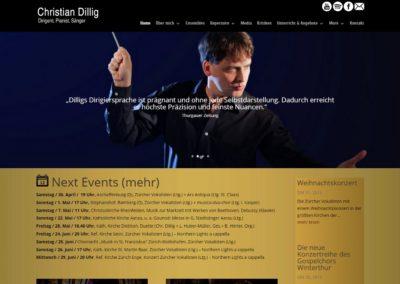 CHRISTIANDILLIG.COM – Strona internetowa dla muzyków