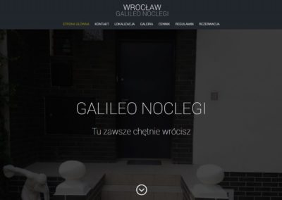 GALILEONOCLEGI.PL – Strona internetowa dla branży turystycznej