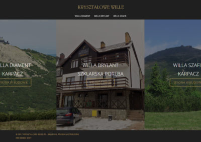KRYSZTALOWE-WILLE.PL – Strona internetowa dla branży turystycznej