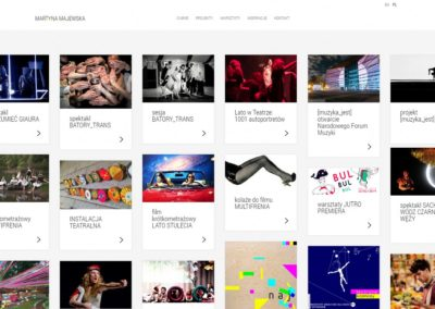 MARTYNAMAJEWSKA.PL – Strona internetowa dla teatru