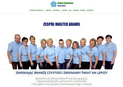 MASTER ADAMS – Strona internetowa dla firmy sprzątającej