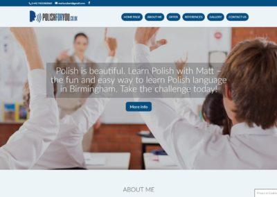 POLISHFORYOU.CO.UK – Strona internetowa dla szkoły językowej