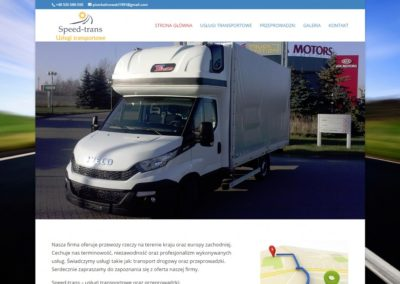 SPTRANS.EU – Strona internetowa dla firmy transportowej