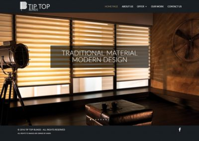 TIPTOPBLINDS.CO.UK – Firmowa strona internetowa